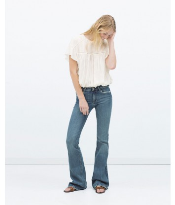 Flared jeans-grey-L