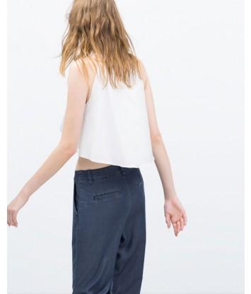 Full top with halter neck-white-S